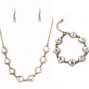 3 Pc Set The Imperfectionist Brass Necklace Set